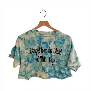 "Custom dye ""misfit toys"" crop top size Medium"